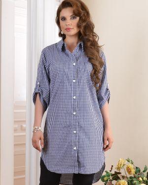 Летнее платье платье-рубашка с отложным воротником Salvi-s