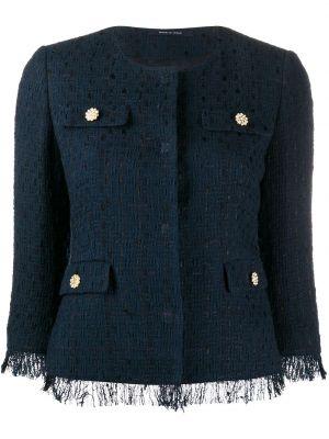 Ватная синяя куртка из вискозы Tagliatore