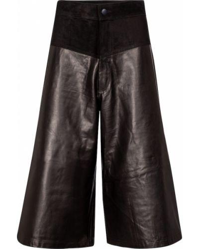 Брендовые черные кожаные кюлоты J Brand