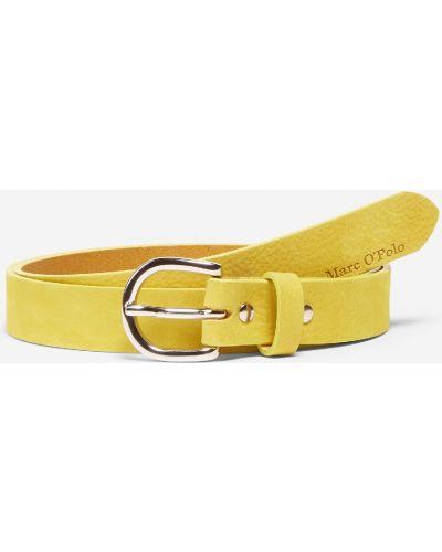 Желтый ремень металлический с пряжкой Marc O`polo