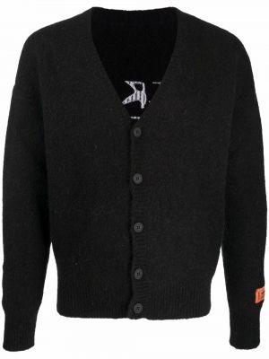 Biały sweter moherowy Heron Preston