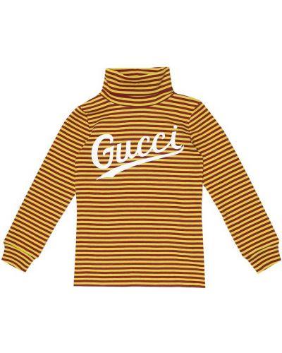 Dom brązowy top zabytkowe z paskami Gucci Kids