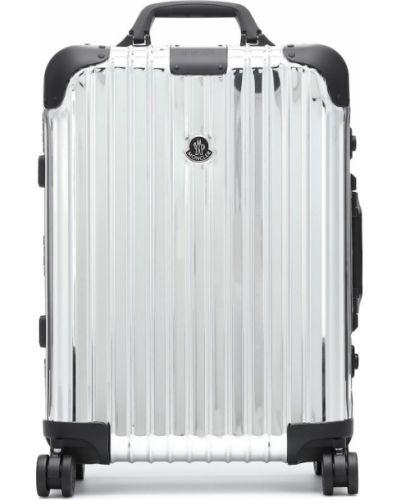 Серебряный чемодан Moncler Genius