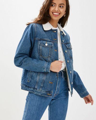 Джинсовая куртка осенняя синий Ostin