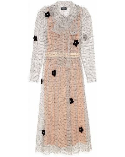Платье миди в горошек - белое Alena Akhmadullina