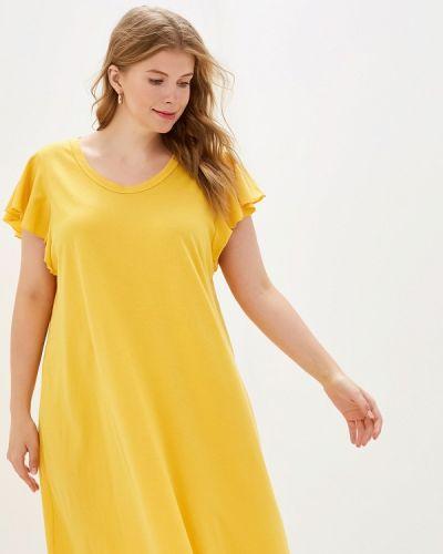 Платье футболка желтый Gap