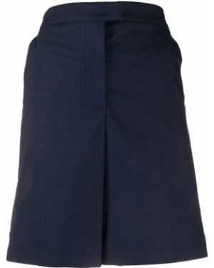 Хлопковые синие шорты с поясом на молнии Fay