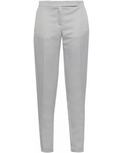 Сатиновые серые укороченные брюки с карманами Amanda Wakeley