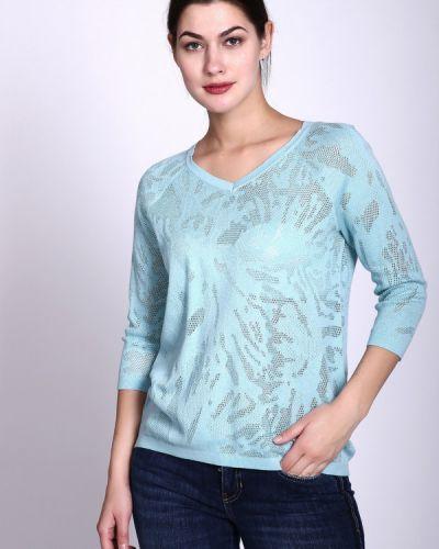 Голубой пуловер с рукавом реглан Pezzo