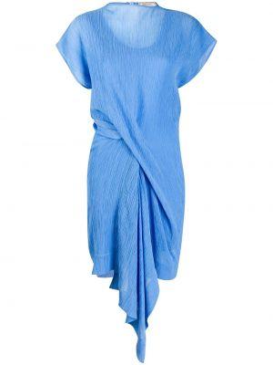 Платье мини на пуговицах со складками Nina Ricci