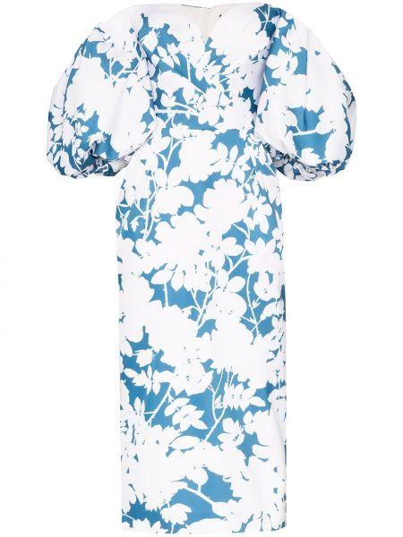 Платье миди с открытыми плечами с цветочным принтом Rasario