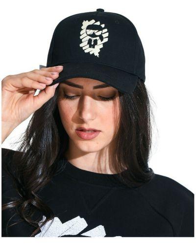 Czarny kapelusz Karl Lagerfeld