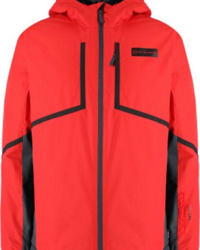 Прямая утепленная красная куртка Glissade