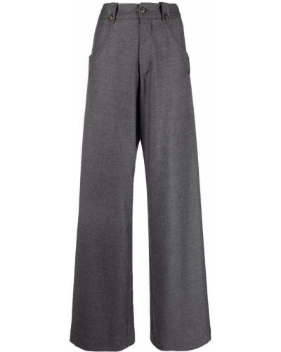 Шерстяные брюки - серые SociÉtÉ Anonyme
