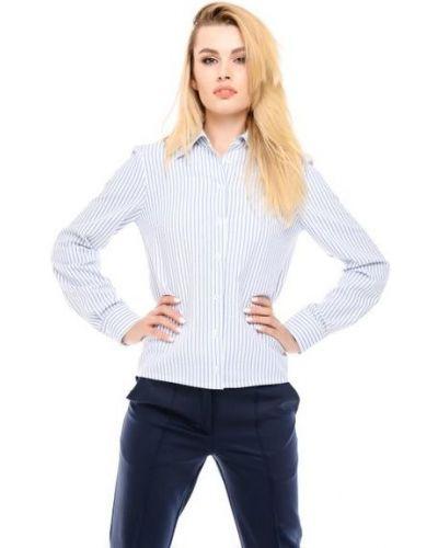 Рубашка в полоску - голубая Alito