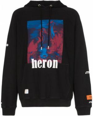 Bluza z kapturem z kapturem czarna Heron Preston