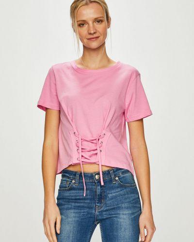 Топ с вырезом - розовый Answear