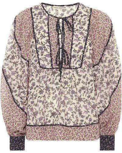 Ватная малиновая блузка из вискозы пэчворк Ulla Johnson