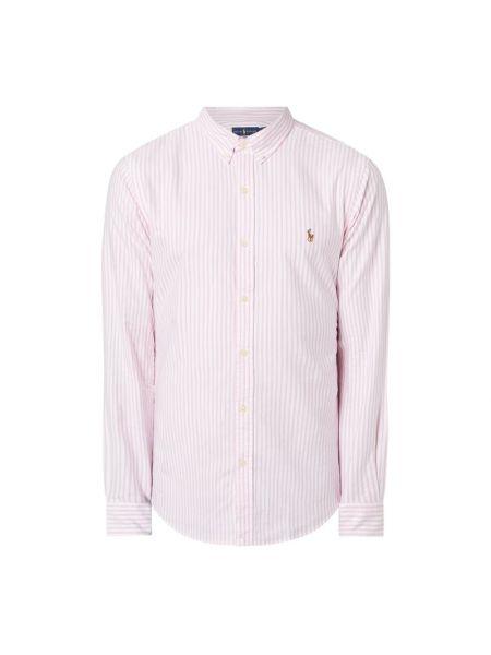 Bawełna puchaty różowy koszula oxford z mankietami Polo Ralph Lauren