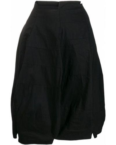 Юбка с завышенной талией - черная Rundholz