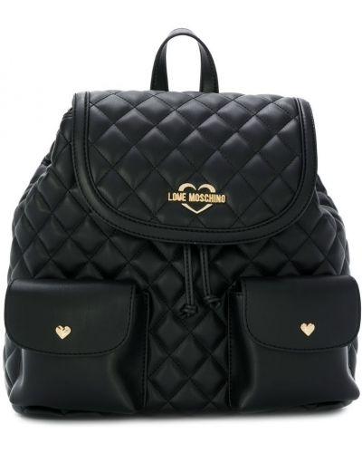 Кожаный рюкзак стеганый Love Moschino