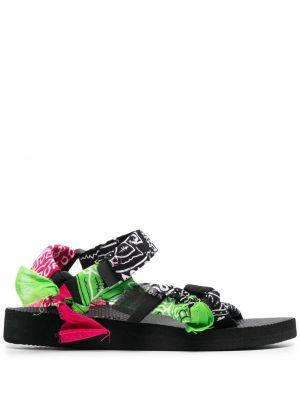 Czarne sandały z klamrą peep toe Arizona Love
