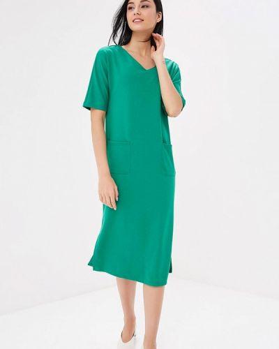 Зеленое платье льняное Savage