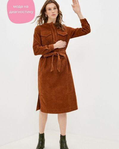 Коричневое прямое платье Gap