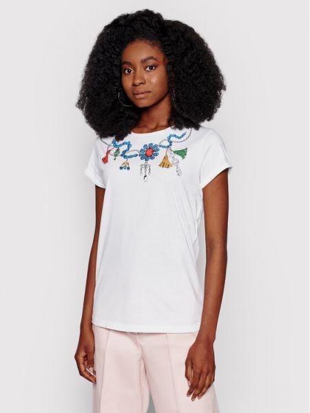 Biała t-shirt Iblues