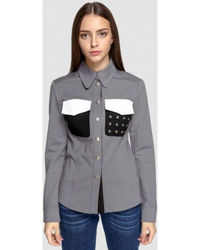Рубашка с длинным рукавом серая Dolcedonna