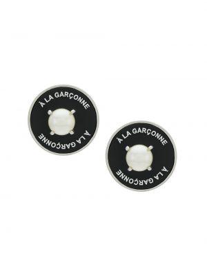 Черные серьги металлические с бабочкой à La Garçonne