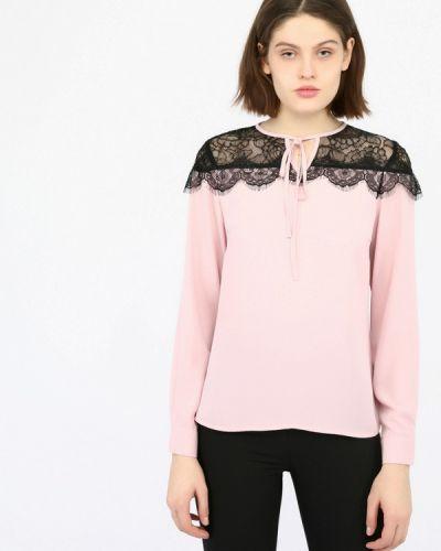Блузка с длинным рукавом розовая Monton