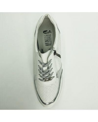 Кожаные кроссовки - белые Gabis