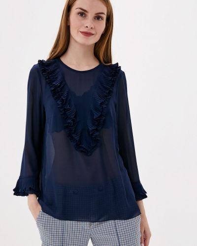 С рукавами синяя блузка Vera Moni