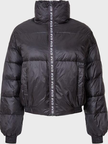 Черная куртка на молнии Ice Play