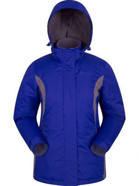 Niebieska kurtka z kapturem klamry Mountain Warehouse