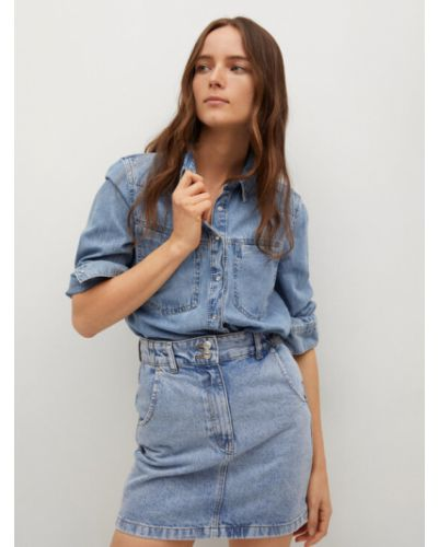 Spódnica jeansowa - niebieska Mango