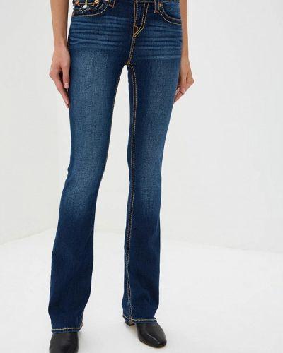 Широкие джинсы расклешенные синие True Religion