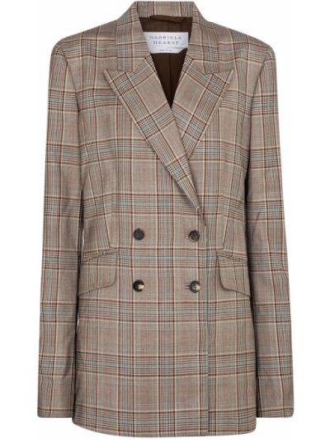 Шерстяной коричневый классический пиджак Gabriela Hearst