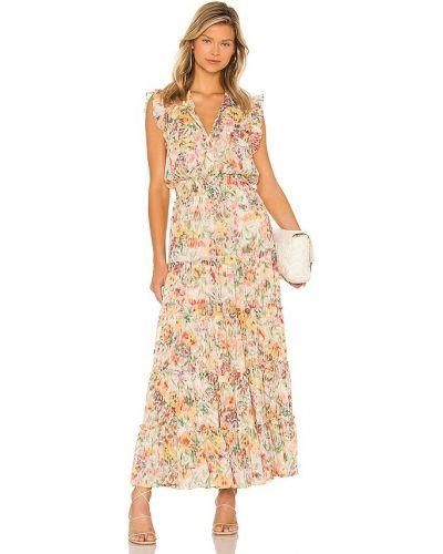Платье с подкладкой - бежевое Misa Los Angeles
