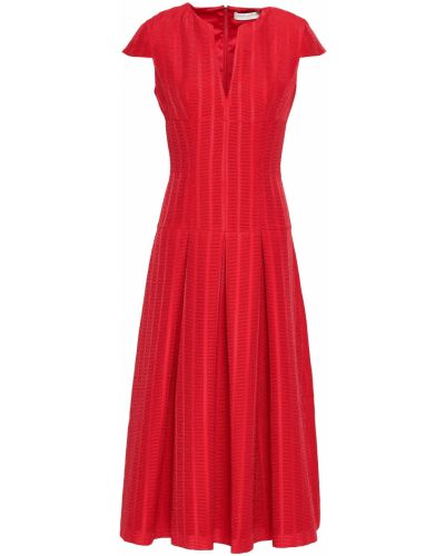 Расклешенное платье миди с подкладкой на крючках Amanda Wakeley