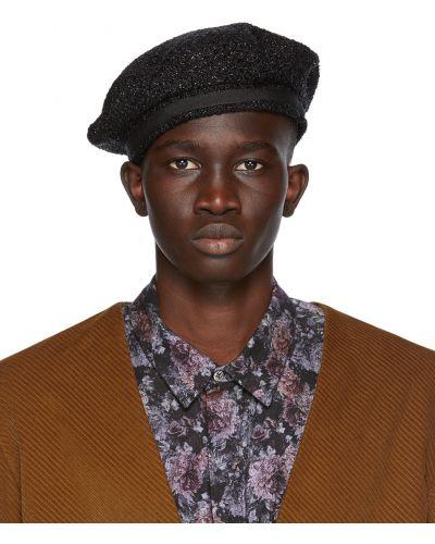 Czarny beret wełniany 4sdesigns