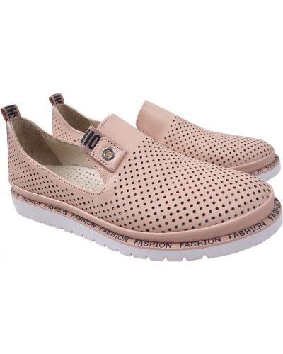 Кожаные туфли - розовые Guero