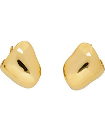 Серьги-гвоздики золотые Faris