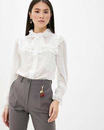 Белая блузка с бантом Арт-Деко