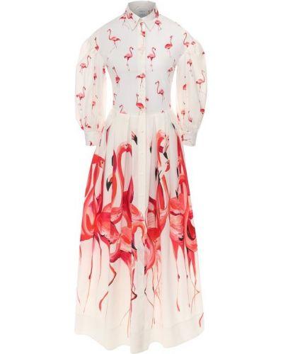Платье розовое расклешенное Sara Roka