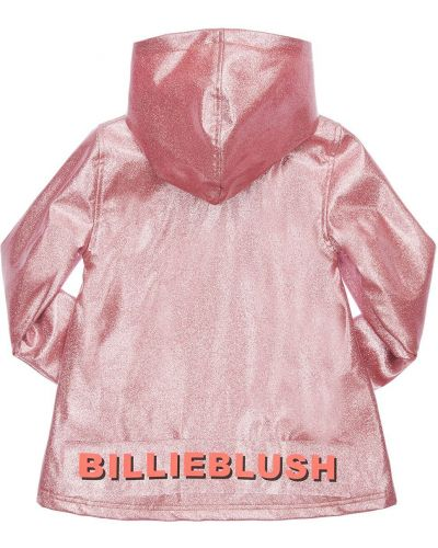Różowy płaszcz przeciwdeszczowy prążkowany od płaszcza przeciwdeszczowego Billieblush