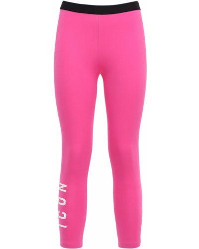 Różowy legginsy elastyczny Dsquared2