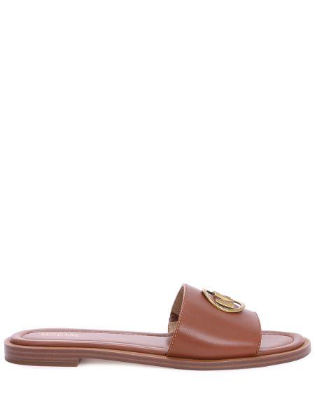 Шлепанцы на каблуке кожаные Michael Michael Kors