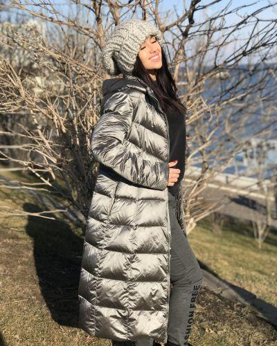 Пальто с капюшоном - серое Freever